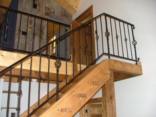 Custom built log ladder